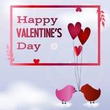 Valentine Day-prentbriefkaar Royalty-vrije Stock Afbeelding