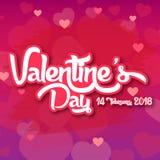 Valentine Day Purple BG 2018 dirigent l'image Images stock