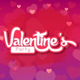 Valentine Day Purple BG Party a imagem do vetor Fotos de Stock
