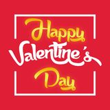 Valentine Day Red et image blanche de vecteur Photographie stock libre de droits