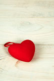 Valentine day. red fabric heart Royalty Free Stock Image