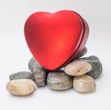 Valentine Day Red Heart Box Imagen de archivo libre de regalías