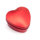 Valentine Day Red Heart Box Fotografie Stock