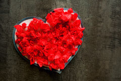 Valentine day red heart love romance passion Stock Photography