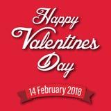 Valentine Day Ribbon Valentines Day-Vektor-Bild Stockfotografie