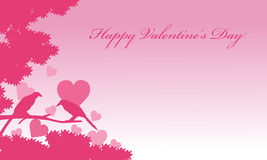 Valentine day romance bird backgrounds Stock Images