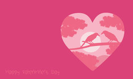 Valentine day with romance bird backgrounds Royalty Free Stock Images