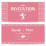 Valentine day romantic invitation card Royalty Free Stock Image