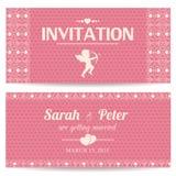 Valentine day romantic invitation card Royalty Free Stock Image