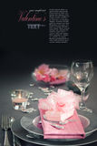 Valentine Day Romantic Table Setting Royalty Free Stock Photo