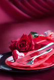 Valentine day romantic table setting Stock Photography