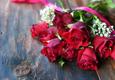 Valentine day roses Stock Images