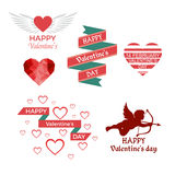 Valentine day. Valentine`s day design, icons elements collection stock illustration