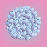 Valentine Day's hearts Stock Images