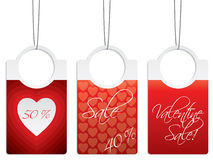 Valentine day sale labels Royalty Free Stock Photo