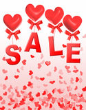Valentine day sale Royalty Free Stock Photography