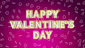 Valentine day sale loop with moving background. Pink version stock video footage