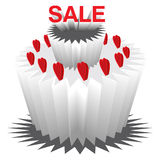 Valentine Day Sale Stock Photos