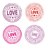 Valentine day seal Royalty Free Stock Images