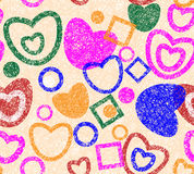 Valentine day seamless background Royalty Free Stock Image