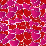 Valentine day seamless background pattern Stock Images