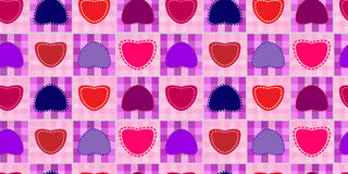 Valentine day seamless background pattern Royalty Free Stock Photo