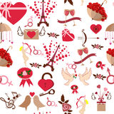 Valentine Day seamless pattern vector illustration Royalty Free Stock Photography