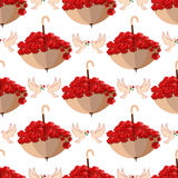 Valentine Day seamless pattern vector illustration Stock Photos