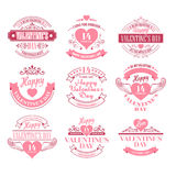 Valentine day Set of typography elements with Stock Images