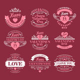 Valentine day Set of typography elements with Royalty Free Stock Photo