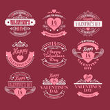 Valentine day Set of typography elements with Stock Photos