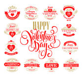 Valentine day Set of typography elements with Royalty Free Stock Images