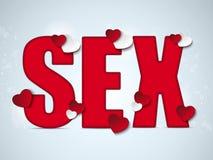 Valentine Day Sex Red Heart Imagen de archivo libre de regalías
