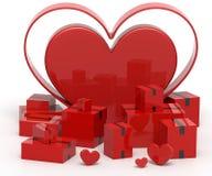 Valentine Day Shipping Royalty Free Stock Photo