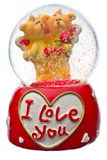 Valentine day snow globe stock image