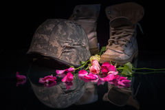 Valentine day for solder and army Stock Photography