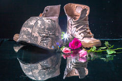 Valentine day for solder and army Royalty Free Stock Photos