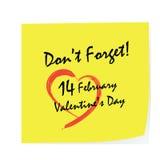 Valentine Day Stick Fotografía de archivo