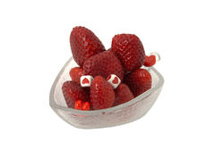 Valentine day strawberries Stock Images