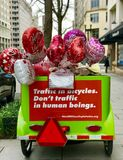 Valentine Day street shot. Washington DC lovely Royalty Free Stock Image