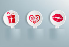 Valentine Day symbols Stock Photos