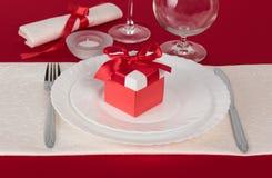 Valentine Day tabellinställning Arkivfoton