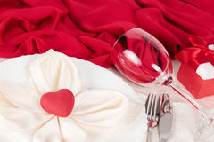 Valentine Day table setting Stock Image