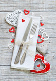 Valentine day table setting Royalty Free Stock Photography