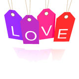 Valentine day tags Stock Images
