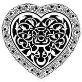 Valentine Day tatto heart Royalty Free Stock Image