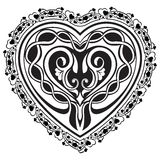 Valentine Day tatto heart Stock Photos