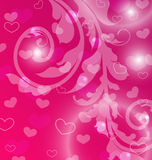 Valentine Day template with abstract floral elements and light e Royalty Free Stock Photos