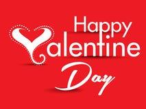 Valentine Day Text Background con el corazón Imagen de archivo libre de regalías