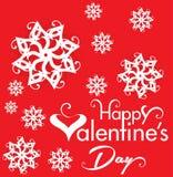 Valentine Day Text Background con el corazón y la flor Imagen de archivo
